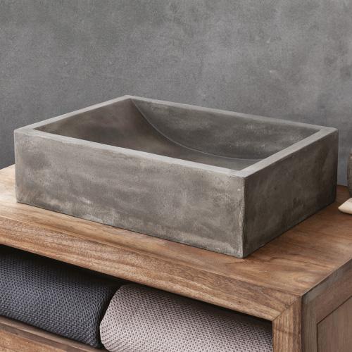 כיור בטון מונח דגם רובי גוון טבעי