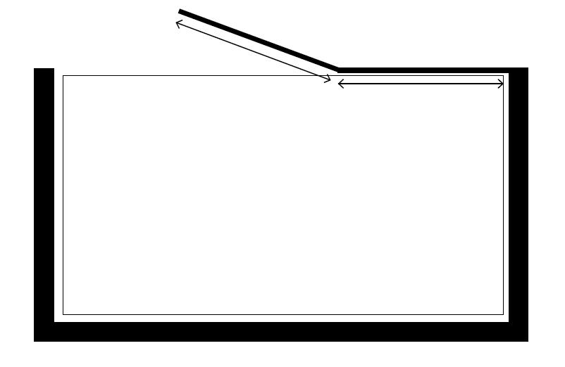 אמבטיון שחור ג'קסון C, בגימור שקוף.