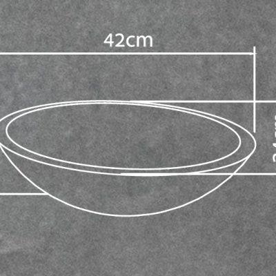 כיור בטון מונח דגם בורה 38