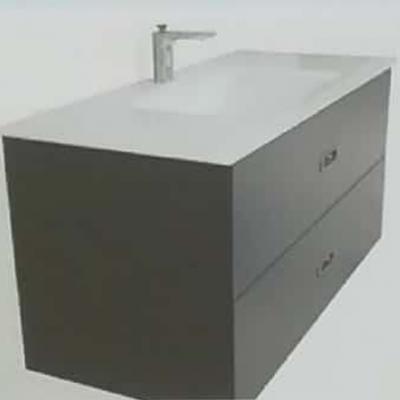 """ארון אמבטיה תלוי בר אפוקסי 80 ס""""מ"""