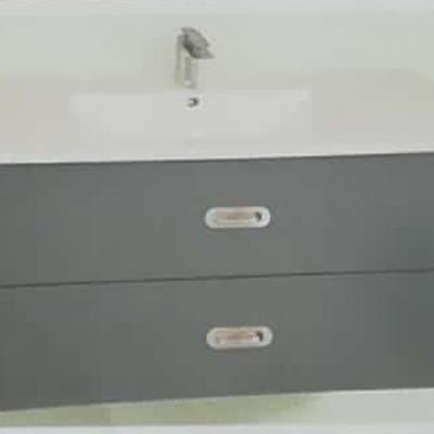 """ארון אמבטיה תלוי בר אפוקסי 100 ס""""מ"""