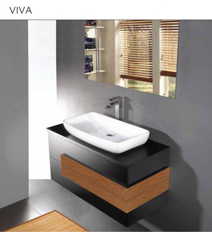 """ארון אמבט תלוי אפוקסי ויוה 90-100 ס""""מ"""