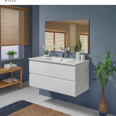 """ארון אמבטיה תלוי אפוקסי ויטו 70-80 ס""""מ"""