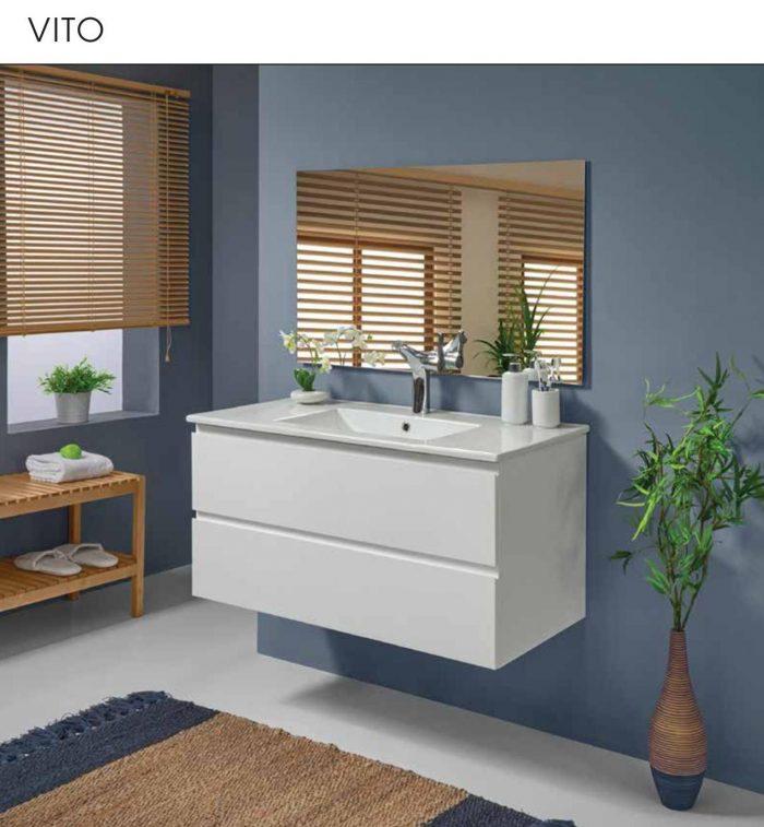 """ארון אמבטיה תלוי אפוקסי ויטו 90-100 ס""""מ"""