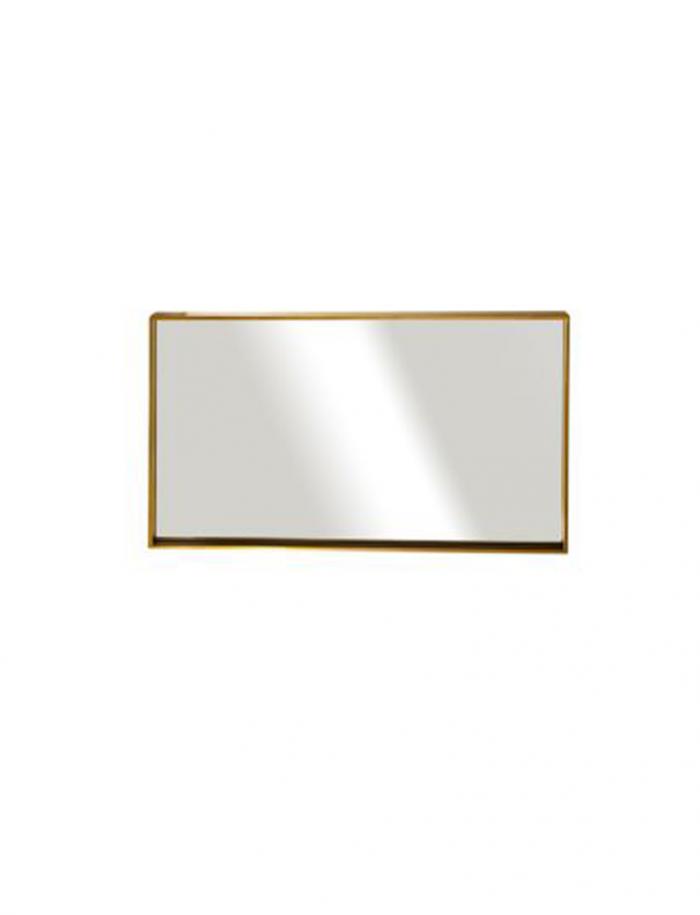 """מראה ונוס מסגרת זהב 100/60 ס""""מ"""