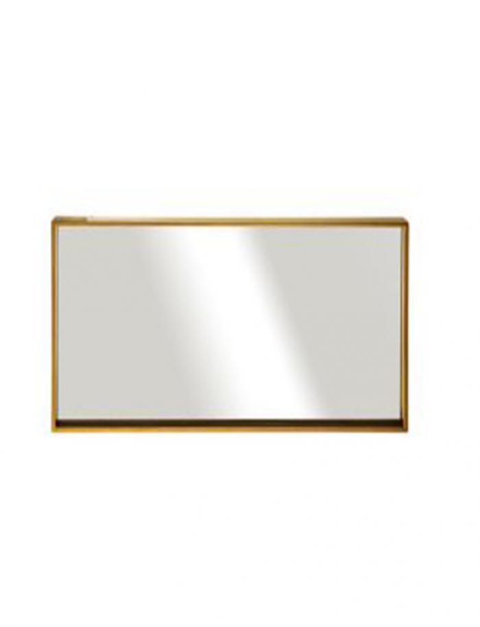 """מראה ונוס מסגרת זהב, 80/40 ס""""מ"""