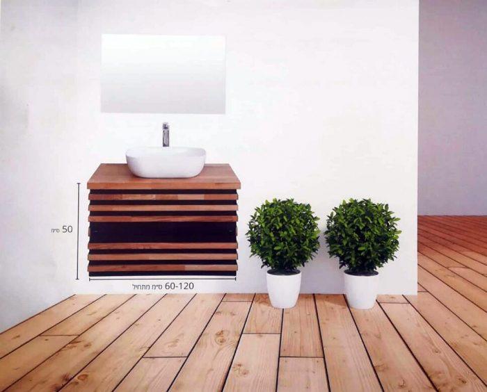 """ארון אמבטיה תלוי לבונה אפוקסי 120 ס""""מ"""