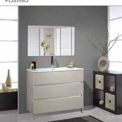 """ארון אמבטיה עומד פורמייקה פוסטינו 100 ס""""מ"""