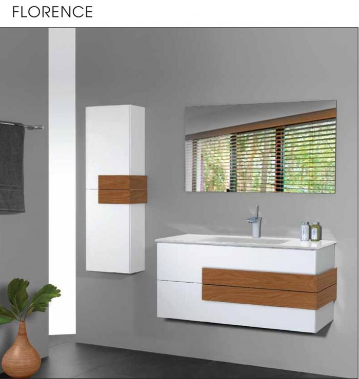 """ארון אמבטיה תלוי אפוקסי 70-80 ס""""מ פלורנס"""