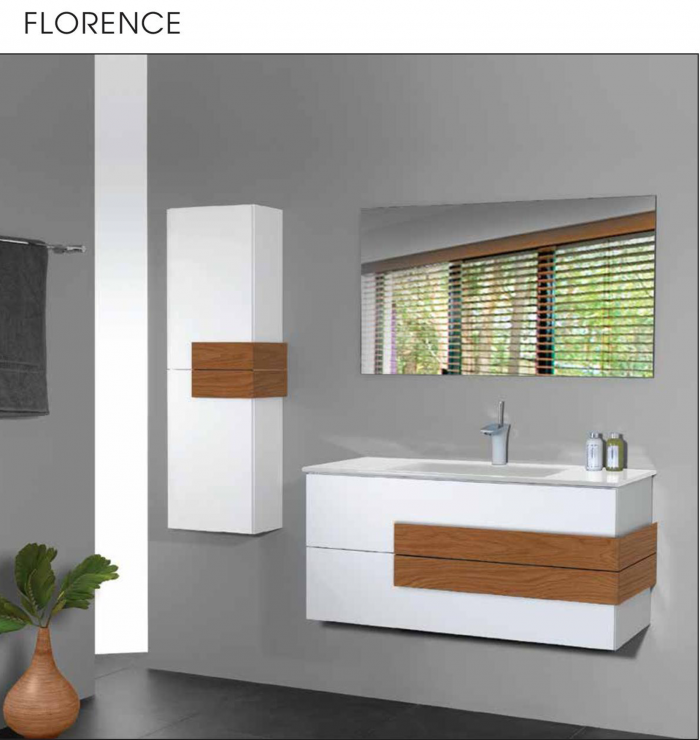 """ארון אמבטיה תלוי אפוקסי 90-100 ס""""מ פלורנס"""