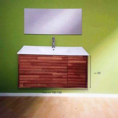 """ארון אמבטיה תלוי קליין מעץ מלא 100 ס""""מ"""