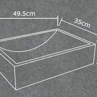 כיור בטון מונח דגם רובי