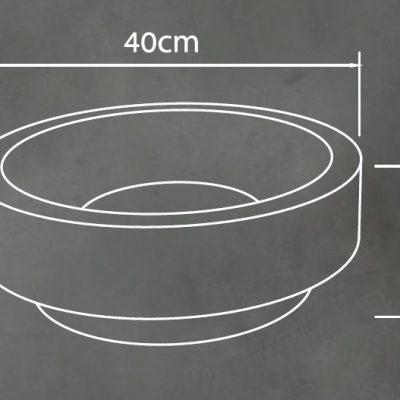 כיור בטון חצי שקוע דגם שהם