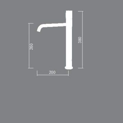 ברז מיקסר לאמבטיה שחור K