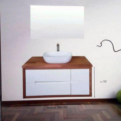 """ארון אמבטיה תלוי תפארת אפוקסי 120 ס""""מ"""