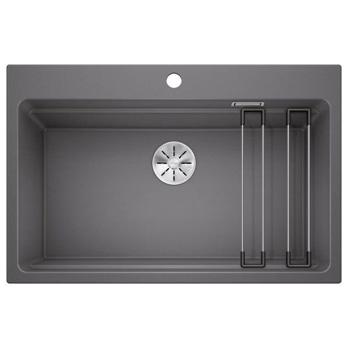 כיור מטבח דגם אטגון 8 סיליגרניט מערכת שלמה של 3 קומות כולל שני מוטות נירוסטה מודולריים שפותחו במיוחד ומגיעים עם הכיור