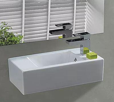 כיור קטן לאמבטיה סופיה צר מונח / תלוי מלבני