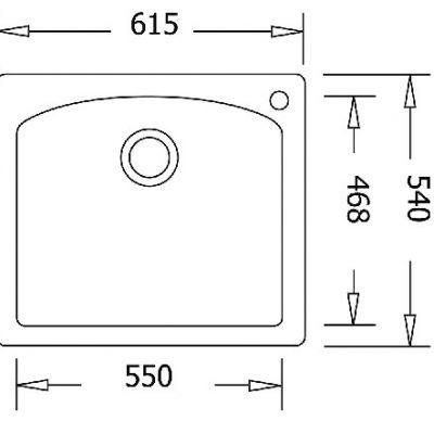כיור מטבח דיאמונד 1 בלנקו גרניט מטבח יחיד