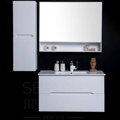 """ארון אמבטיה אפוקסי תלוי ליזה 80 ס""""מ"""