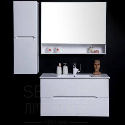 """ארון אמבטיה אפוקסי תלוי ליזה 60 ס""""מ"""