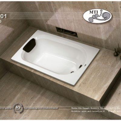 אמבטיה אקרילית מלבנית 120*70