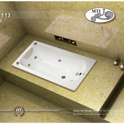 אמבטיה אקרילית 130*70