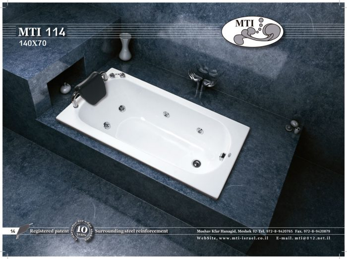 אמבטיה אקרילית 140*70