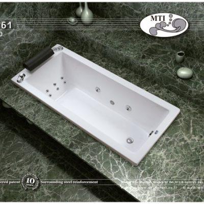 אמבטיה קטנה אקרילית 160*70
