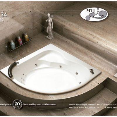 אמבטיה אקרילית 140*140