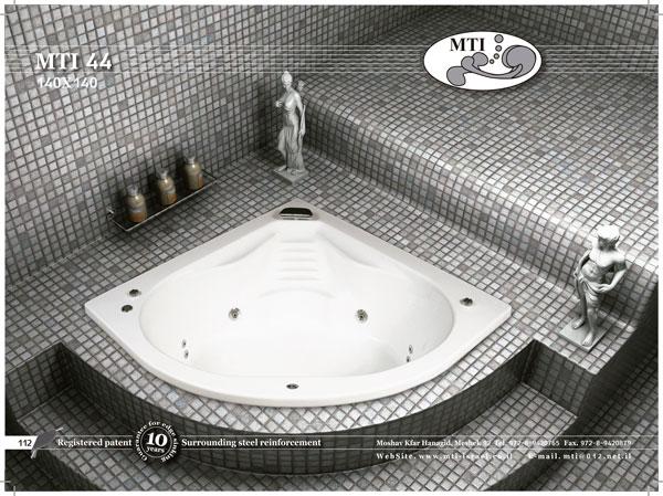 אמבטיה אקרילית פינתית 140*140