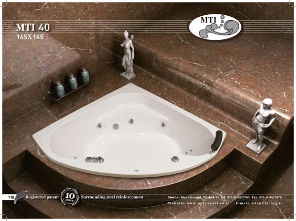 אמבטיה אקרילית 145*145