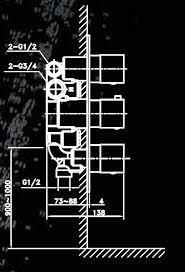 אינטרפוץ תרמוסטטי 5 דרך מרובע