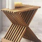 """ספסל עץ 40 ס""""מ מתקפל"""