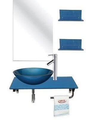 כיור מונח מערכת טופז זכוכית לאמבט