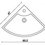 כיור מונח טיטאן קוורץ' SL 455 סגל