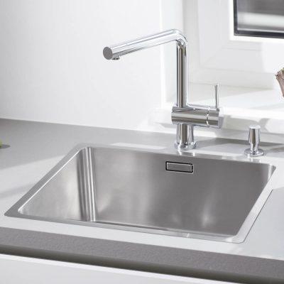 כיור מטבח דגם אנדאנו 450 IF כיור מטבח מסדרת אנדאנו, עיצוב מרשים ונוחות שימוש, עשוי נירוסטה 18/10 שאינה מחלידה | כיור תוצרת בלנקו גרמניה