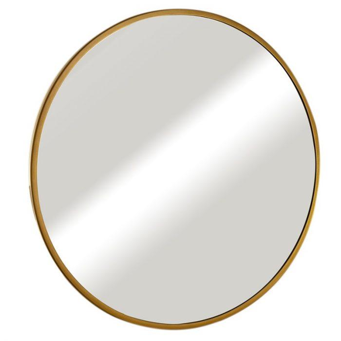 """מראה עגולה ונוס מסגרת זהב קוטר 70 ס""""מ"""