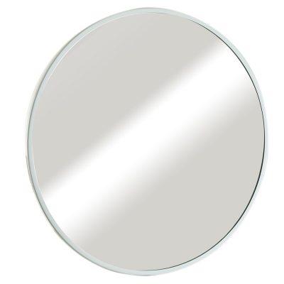 """מראה עגולה ונוס מסגרת לבנה, קוטר 70 ס""""מ"""