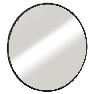 """מראה עגולה ונוס מסגרת שחורה קוטר 70 ס""""מ"""