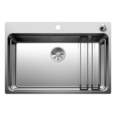 כיור מטבח דגם אטגון 700 מערכת שלמה של 3 קומות. הכיור מספק שלוש רמות של עבודה