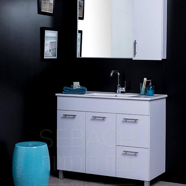 """ארון אמבטיה עומד פורמייקה קלאסיק לירון 60 ס""""מ"""