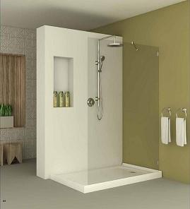 מקלחון חזית אופן ספייס צמוד קיר
