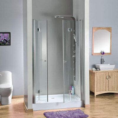 מקלחון חזית 2 דלתות הרמוניקה