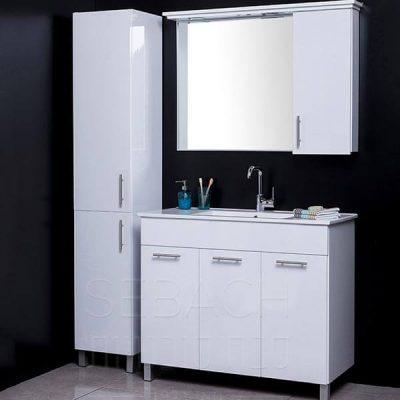 """ארון אמבטיה פורמייקה עומד קלאסיק אילי 60 ס""""מ"""