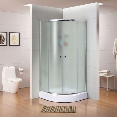 מקלחון פינתי מעוגל קאפה 2 דלתות הזזה