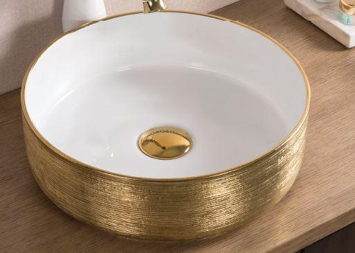 כיור מונח שטרן זהב לבן