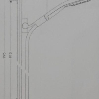 מוט מסילה 90 hansgrohe מסדרת סלקט S