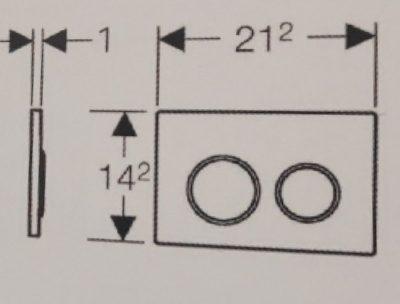 לחצן הפעלה אומגה 20 לבן-כרום-לבן