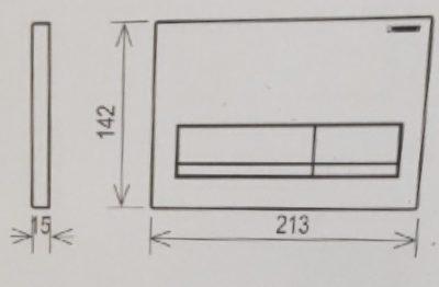 לחצן אלפא 50 מרובע