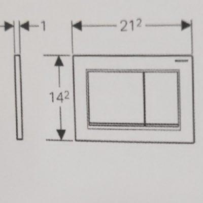לחצן אומגה 30 לבן-כרום-לבן